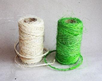 Sisal cord - 1 spool - 2.5 mm Diameter = 65 Yards = 60 Meters - Manila Rope - DIY Rope - Weddings - Nautical Rope - Rug DIY