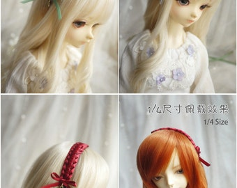 Knit Ribbon Hair Band for BJD SD and MSD/YoSD Dolls 13 Colors Available