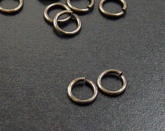 Brass Jump Rings 100 Antique Bronze Unsoldered Closed 7mm 18 gauge (1046jum07z1)
