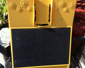 A Yellow Rubbermaid Message Center Wall Decor