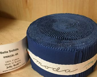 Bella Solids (9900-48) ADMIRAL BLUE jelly roll