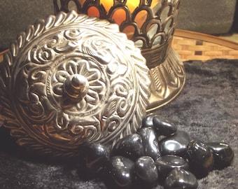 Black Onyx Tumbled Gemstone - Strength, Stamina, Courage, Self-Control, Grounding, Protection