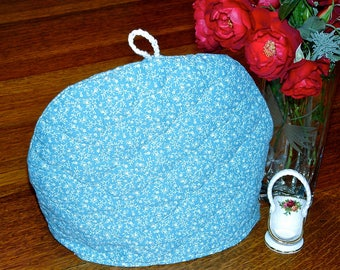 Tea Cozy Insulated Padded Layers Lining Blue Print Dome Quilt Mother Gift
