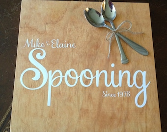 Spooning since . . .  Great Wedding or Anniversary Gift