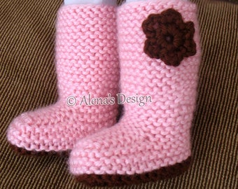 Free Knitting Pattern 18 inch Doll Boots Crochet Flower Pink Boots American Doll Outfit My Life Knitting Boot Pattern Christmas Gift Girl