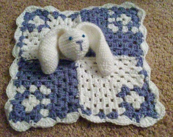 Bunny Baby Lovey Security Blanket