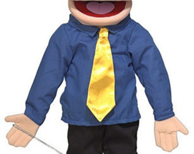"""New PUPPET! BIG 25"""" Professional Puppet Dad, Pastor, Businessman - Full Body Muppet Mouth Puppet with Arm Rod"""