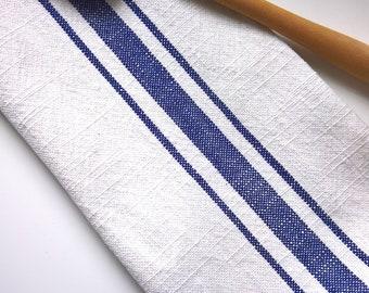 Rustic Tea Towel, Blue & White Kitchen Towel, Farmhouse Dish Towel, Gift Towel, Kitchen Tea Towel, Cottage Towel