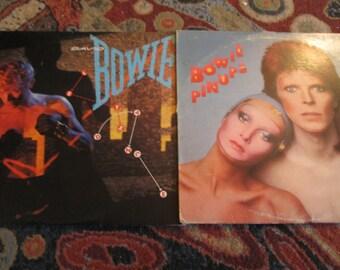 Vintage--David Bowie--Vinyl--Pin Ups--Let's Dance--2 LP Combo--Collectible Vinyl--Sorrow--China Girl