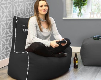 The Gamer Bean Bag Chair - Faux Leather