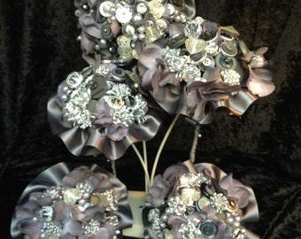 Quicksilver Button Bouquet
