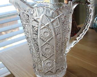 Cut glass pitcher - from the 60s