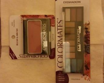 Eye shadow kit and blush/brush kit