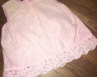 Vintage 1960s Infant Baby Girls size 12 months Pink Top