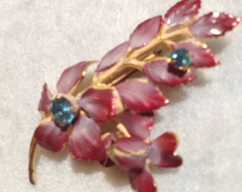 Vintage Austrian Brooch  -  Matching Earrings Available