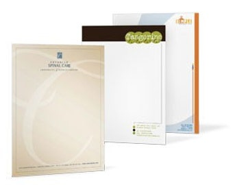 250 printed letterheads - custom full color prints - A4 size