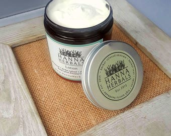 Amber Noir All Natural Lotion - Hand and body lotion - Rich and Creamy lotion - dry skin relief - sandalwood lotion - Hanna Herbals Lotion