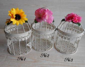 Set of 6 Mini  Bird Cages, Metal Tealight Candle Holder,Wedding Hanging Lanterns,Wedding Decor, Wedding Centrepieces,Wedding Table decor