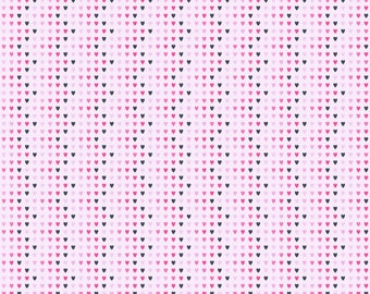 Zig Zag Hearts Patterned Printed Vinyl - Permanent Glossy or Permanent Matte