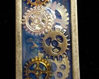 Gear party - Steampunk pendant