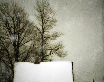 landscape photography rural decay house fine art photography winter snow home decor office decor