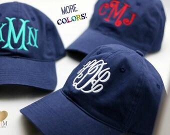 Navy Monogrammed Hat - Monogrammed Baseball Cap- Personalized Baseball Hat - Bridesmaid Gift