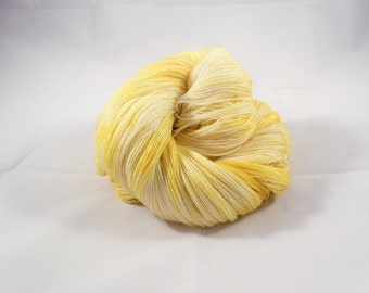 Buttered Popcorn -  Hand Dyed Lace Weight Yarn