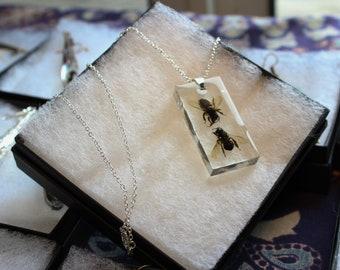 Honey Bee Pendant Rectangle