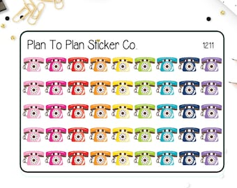 1211~~Telephone Planner Stickers.