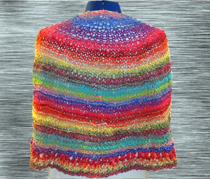 Knit Shawl Pattern, Easy Knitting Pattern, Easy to Knit Prayer Shawl ...