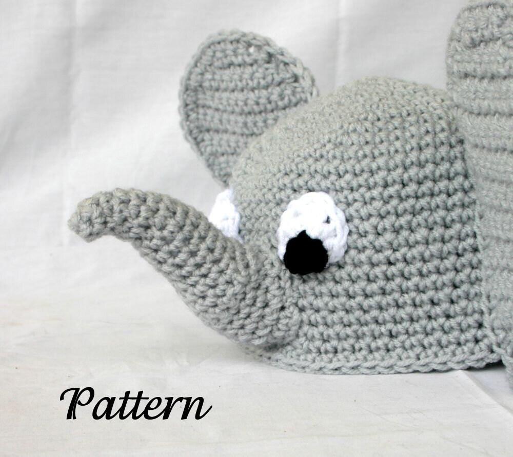 Baby toddler elephant hat PDF Crochet PATTERN 6-36 months