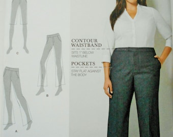 Simplicity Sewing Pattern 8056 Amazing Fit Flared Pants or Shorts in Size Women's 20W-28W. Plus-Size Pants or Shorts, Walking Shorts
