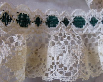 Cream & Green Lace