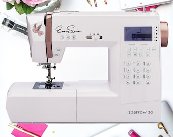 EverSewn Sparrow 30 - 310 Stitches Computerized Sewing Machine w/ Opt Roll. Storage Quilting Tools Notions-Grab and Sew only at PinkysCotton