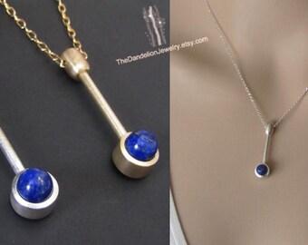Lapis Lazuli Pendant Necklace, Jewelry, Beadwork, Charm, Gift, SALE 10% OFF
