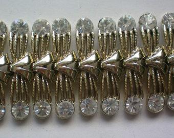 Fabulous Coro Pegasus Wide Rhinestone Bracelet - 5895