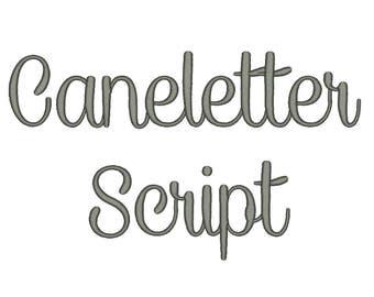 Caneletter Script Font Embroidery Font Machine Embroidery Alphabet Monogram  Font Designs 5 Size BX Embroidery Fonts