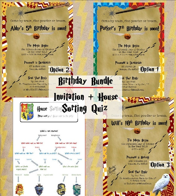 Harry potter birthday party invitations printable 5x7 filmwisefo