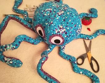 Octopus Plushie ~ Blue Bubbles
