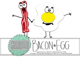 Bacon and Egg Clip Art - Bacon Clip Art, Clip Art Bacon, Egg Clip Art, Clip Art Egg, Clipart Bacon, Clipart Egg, Breakfast Clip Art, Fried