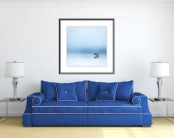 Extra large wall art - Minimalist Photography - Lone Tree - Very large art single tree photograph - Scottish Landscape - Tree Print