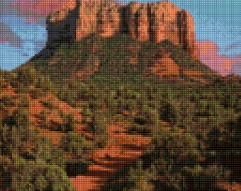 Sedona Arizona Landscape Cross Stitch pattern PDF - Instant Download!