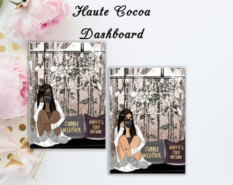 Haute Cocoa | Travelers notebook Dashboard | Skin Tone Options Available