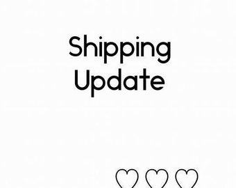 Shipping Update (for those who want to upgrade standard shipping)