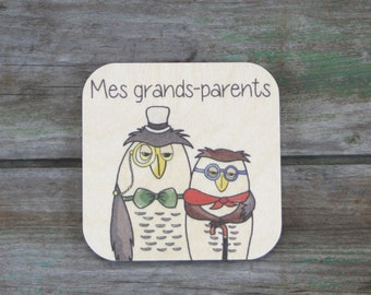 """Grandparents"" symbol, wood - Daily Routine - 3 to 5 years"