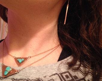 Copper Stick Earrings