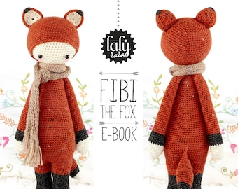 FIBI the fox • lalylala crochet pattern / amigurumi