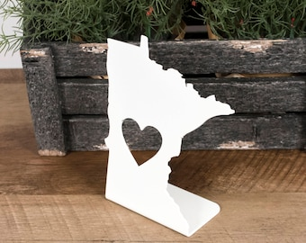 Minnesota Gift Ideas / Love Minnesota Sign / Minnesota Decor / Minnesota Love / Minnesota Sign / Metal Minnesota Sign / Minnesota Cabin