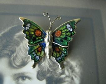 Vintage Enamel Butterfly Pin, Butterfly Pin, Butterfly Brooch, Colorful Butterfly, Butterfly Wings