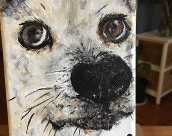 Loved one custom pet portrait painting